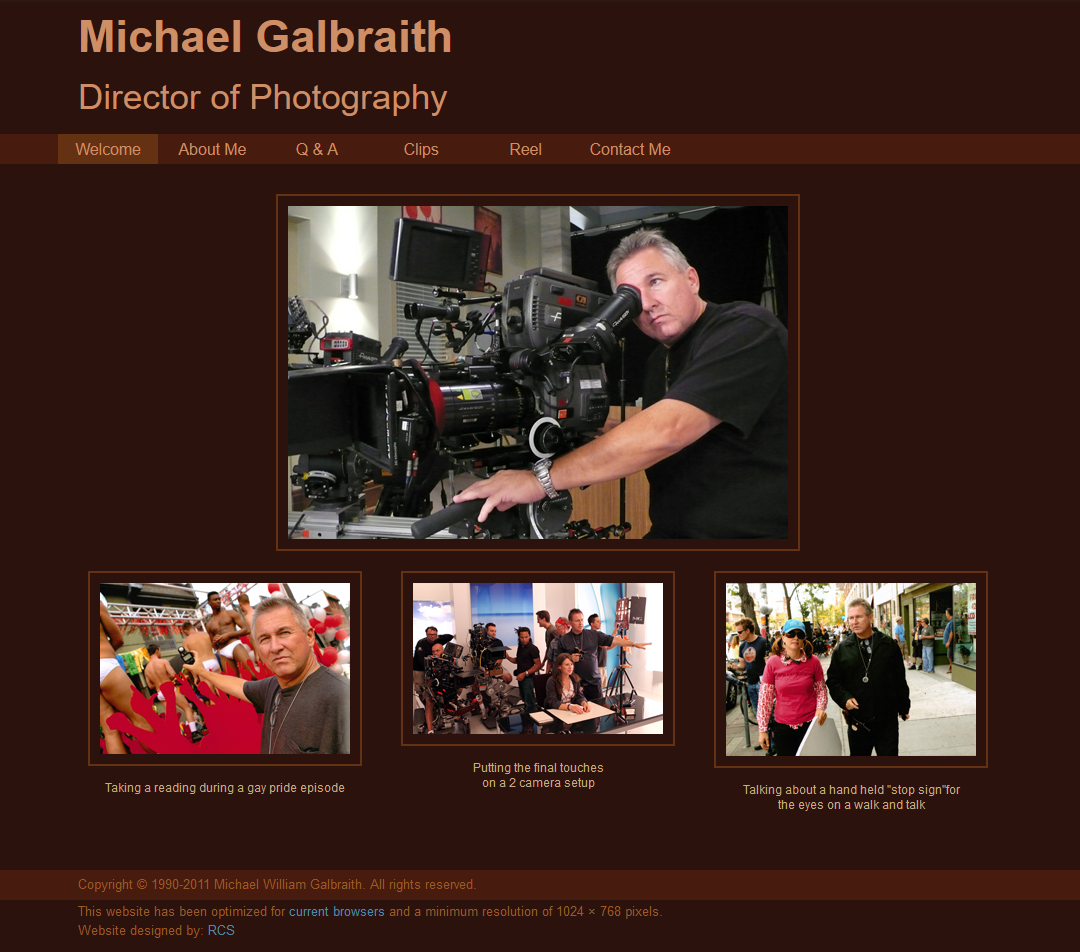 Michael Galbraith Director of Photography
