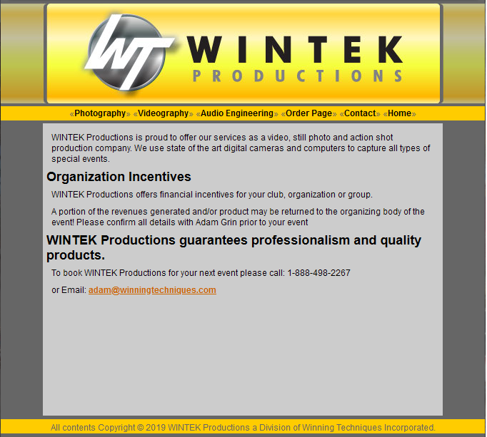 WINTEK Productions as seen in 2009