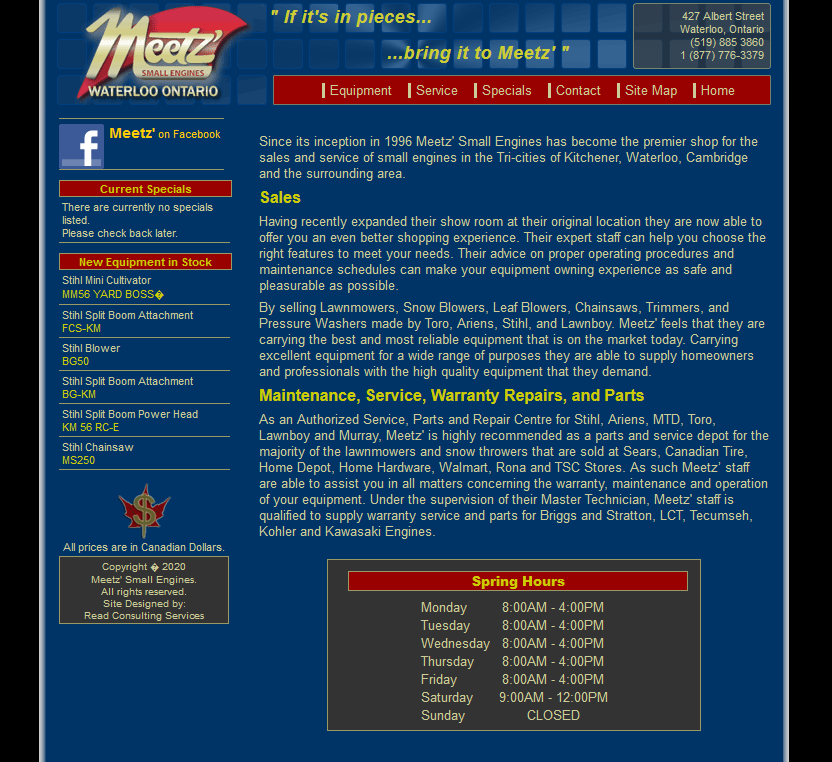 Meetz Small Engines Home Page